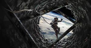 Orbital Horror - Sci-fi Illustration