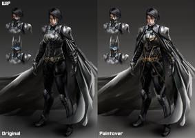 Batgirl WIP Commission Bonus for MihoshiK by katmachiavelli