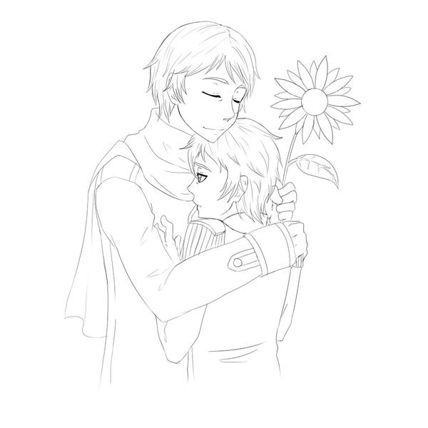 APH: sunflowers_lineart by mifinlow