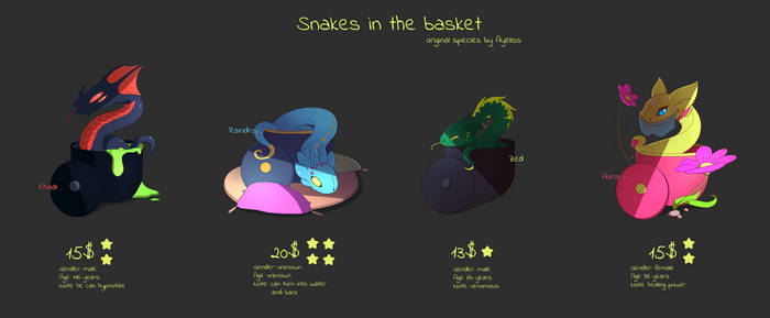 ADOPTABLE OPEN - Snakes in the basket