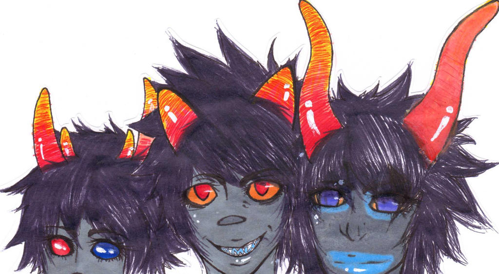 Sollux  Karkat and Gamzee by HetaliasHeroKarkat And Gamzee And Sollux