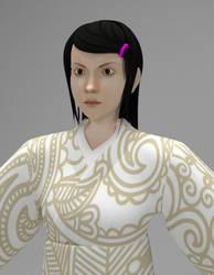Japanese Girl 3D Model-blend