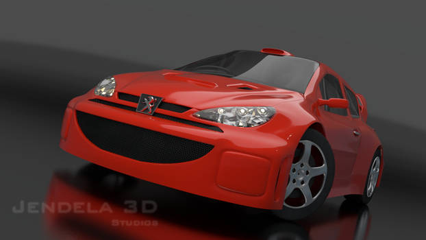 Peugeot 206 wrc rally car 3D models