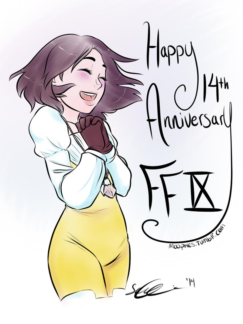 Happy 14th Anniversary FFIX by Moophles