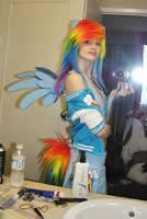 Rainbow dash cosplay by vikkiievoltage