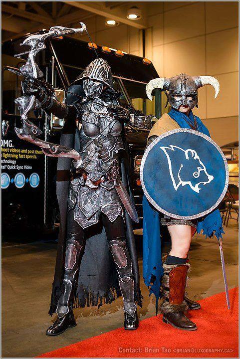 nightingale cosplay feat: stormcloak dovahkiin by vikkiievoltage