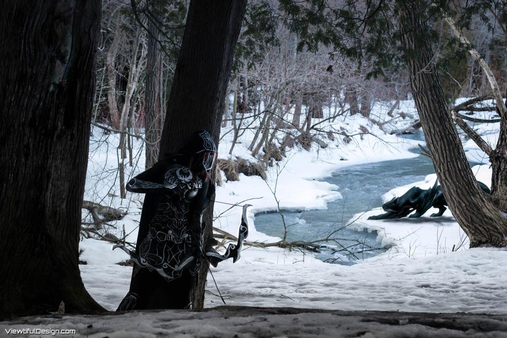 Skyrim: Nightingale Cosplay, Monster hunter by vikkiievoltage