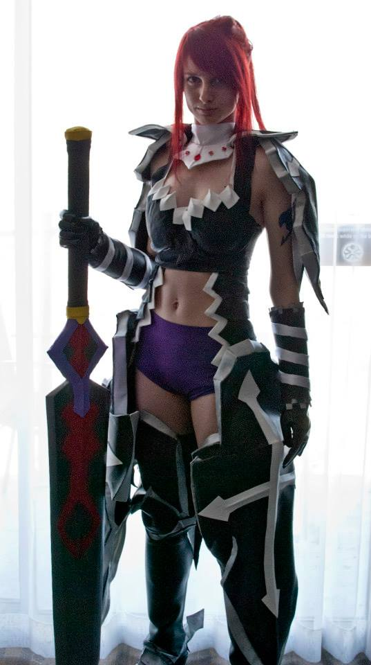 Erza Scarlet fairy Tail Cosplay Black -Wing Armor by ...