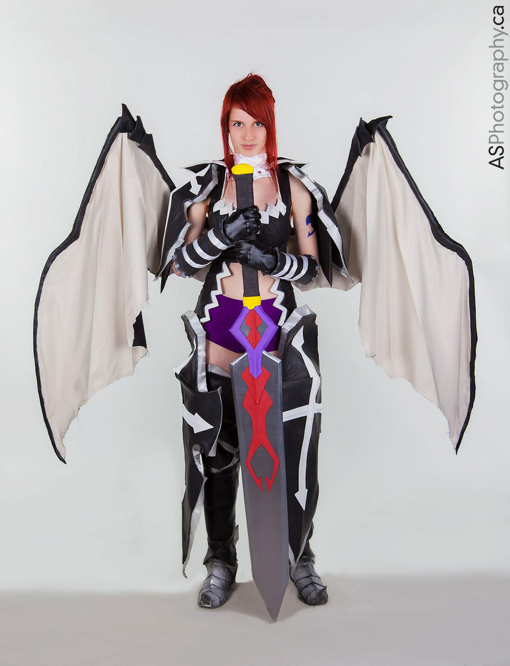 Fairy Tail  Erza Scarlet Black Wing Armor Cosplay by vikkiievoltageErza Scarlet Black Wing Armor Cosplay