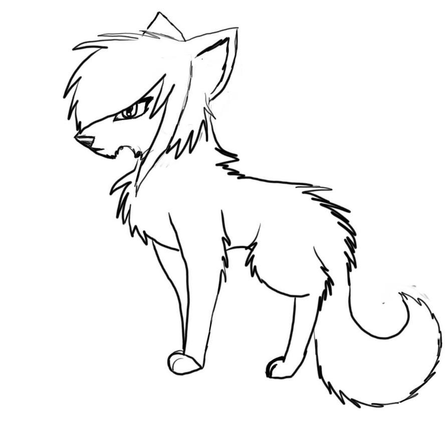 Line Drawing Wolf : Scene wolf line art by drawer kayla on deviantart