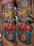 underwater world tattoo by Mirek vel Stotker