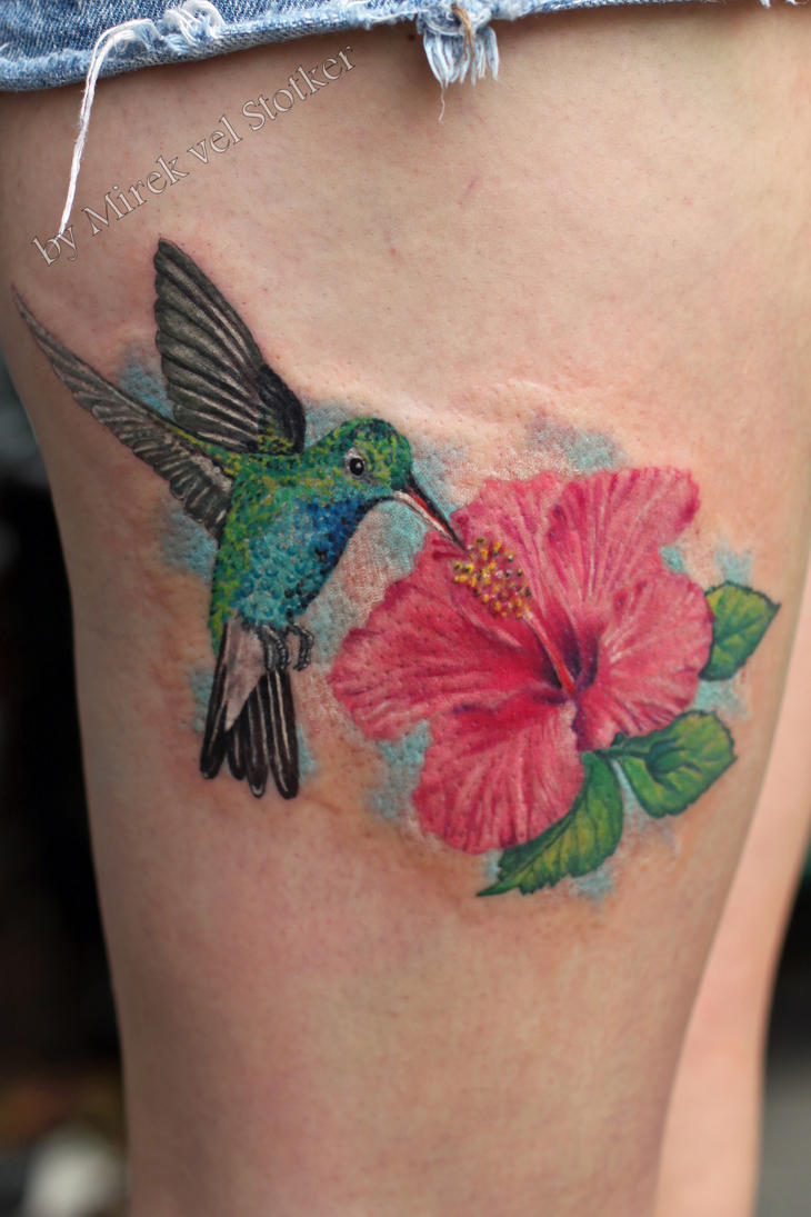 Hummingbird With Hibiscus Flower Tattoo By Stotker On Deviantart