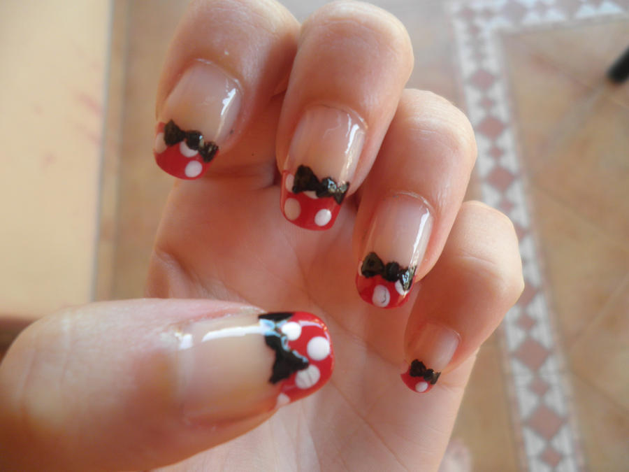 Nails of Minni Mouse/ Manicura de Minni Mouse by nyuuchii on DeviantArt