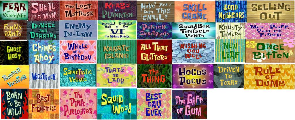 image gallery spongebob season 4