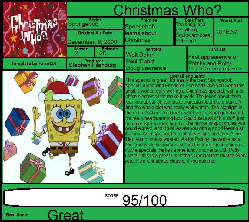 spongebob review christmas who by spongey444 - Spongebob Christmas Who