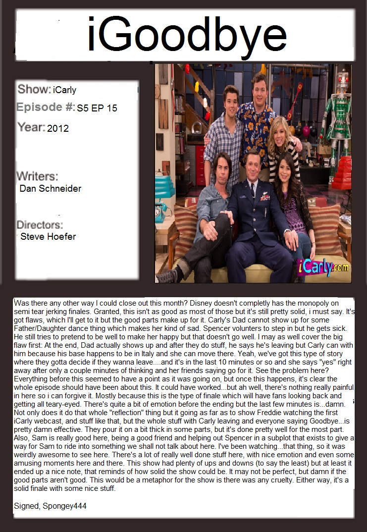 Terrific TV/LiveAction Nick Appr Month: IGoodBye by Spongey444 on ...
