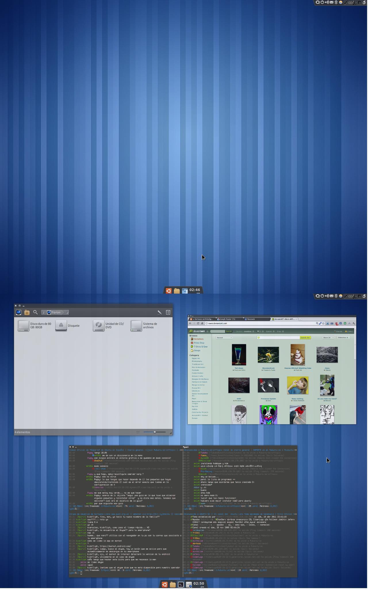 My desktop April - 2011 by avaldive