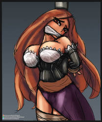 Patreon Request: Sorceress' Pole Bound Fun by Zeahs-Kinky-Corner