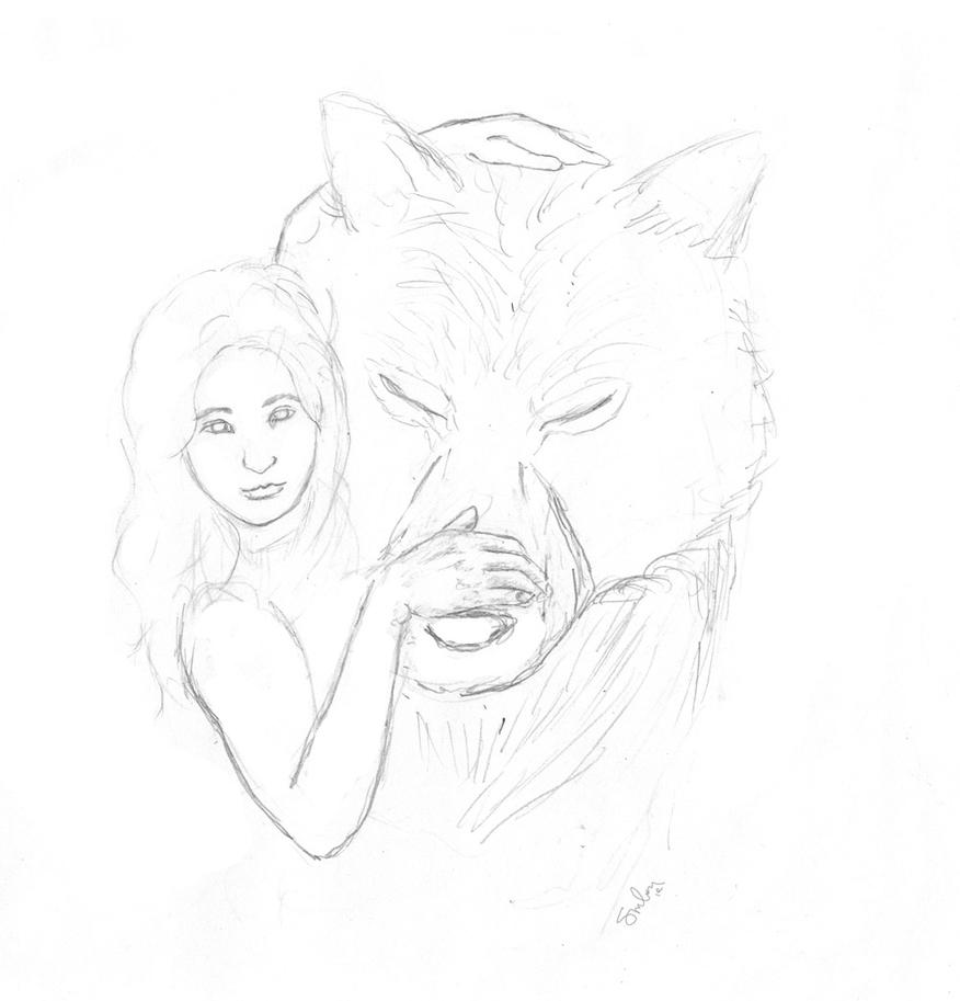 Renesmee and Jacob sketch by Sirilion on DeviantArt