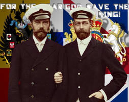 George V, Nicholas II by SaintAndrewsCross