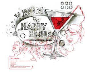 V.ROM t-shirt Happy Hour by gurski