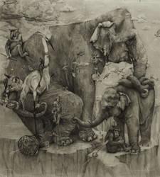 Elephants Mural