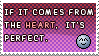 From the heart - stamp - by pandalecko
