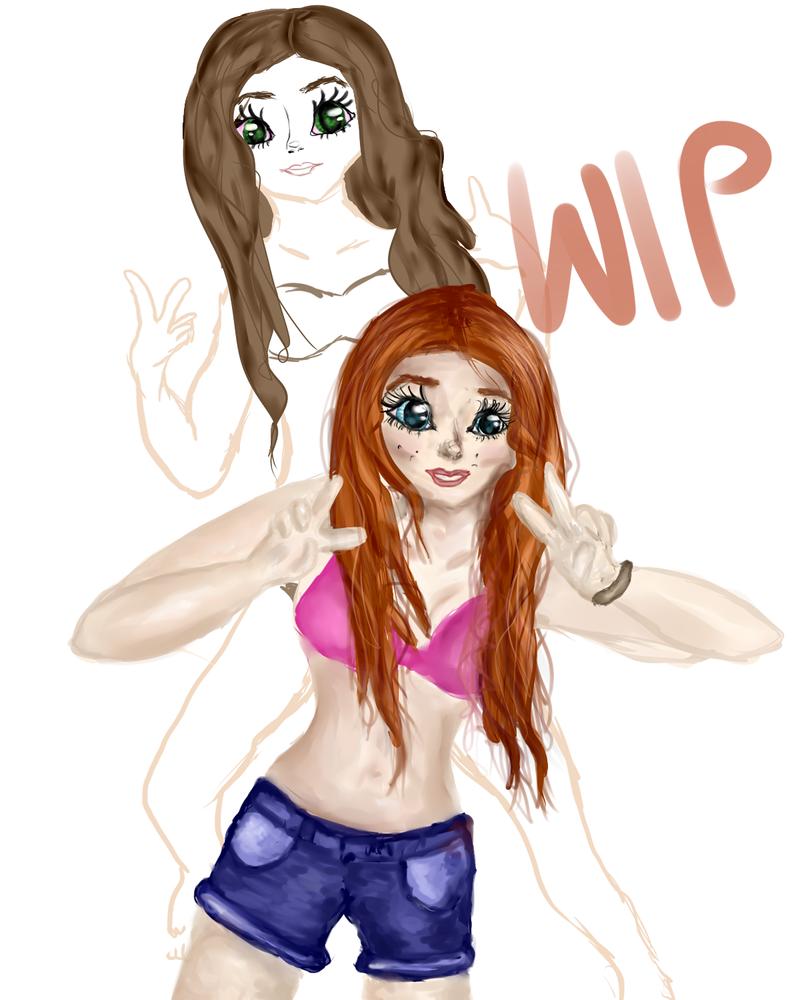 Beach Girls WIP by Arkiva