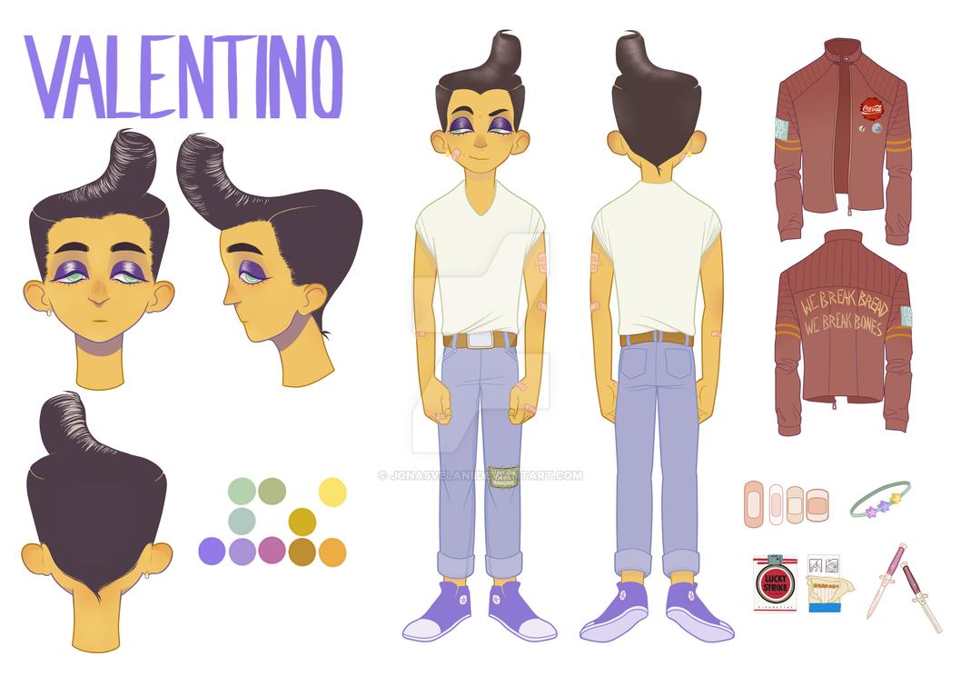 Character Sheet - Valentino by JonasVelani
