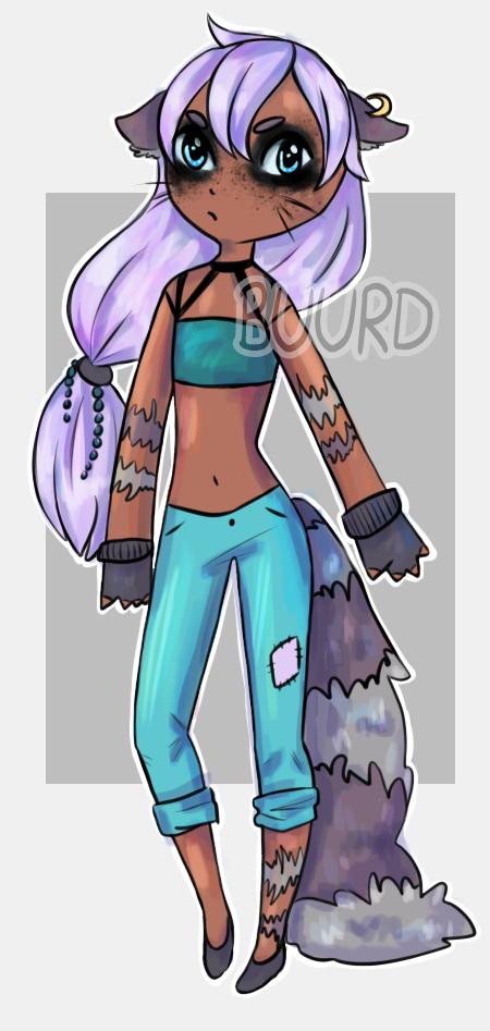 SOLD    Raccoon Girl by BuurdAdopts