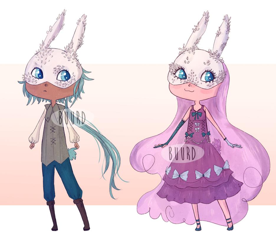 OPEN || Bunny Masquerade by BuurdAdopts