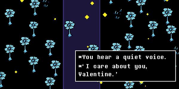 Undertale Valentine-Echoflower by Fire-Star-Bird