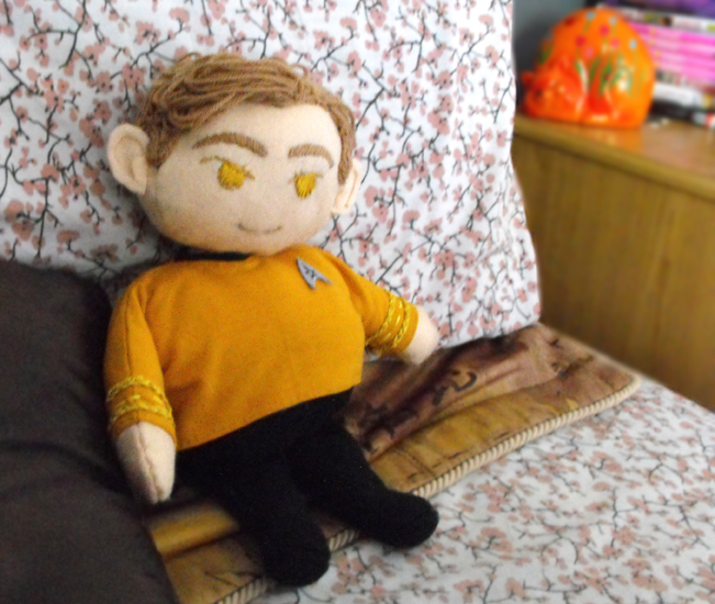 Captain James Tiberius Kirk plushie by kiotana