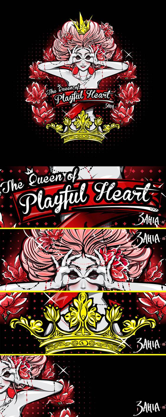 The Queen of Playful Heart [Vector]