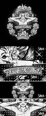 The Queen of Playful Heart Black n White