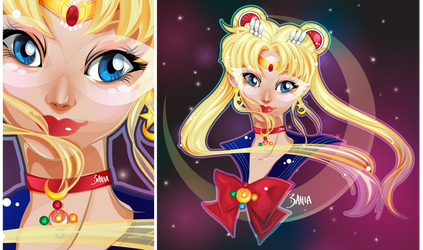 SailorMoon [Vector FanArt by 3ahia]