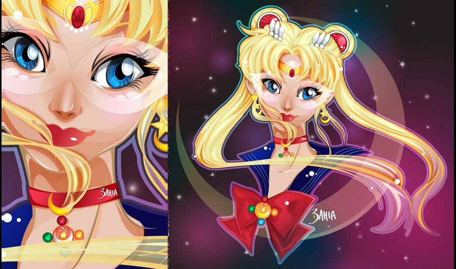 SailorMoon [Vector FanArt by 3ahia] by 3ahia