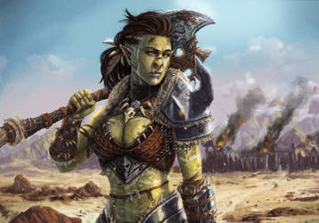 Orc girl by SimplyJorgeous