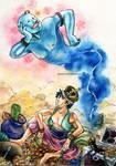 03-Aladdin and the Lamp genie