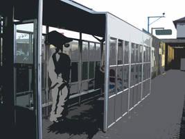 Train Shelter by Jonthearchitect