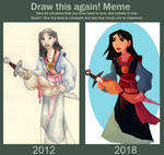 Redraw Meme: Mulan by Professor-R
