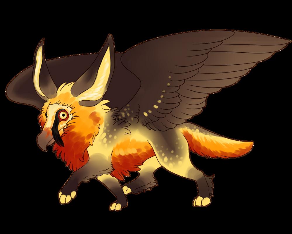 cock gryphon fox dragon drawings