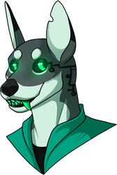 Cyberdog Bust Adopt - OPEN by Kingfisher-Gryphon