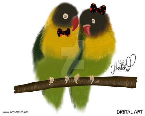 Bowtie Animal - Love Birds