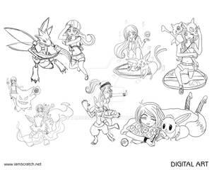 Pokemon Sketches 1