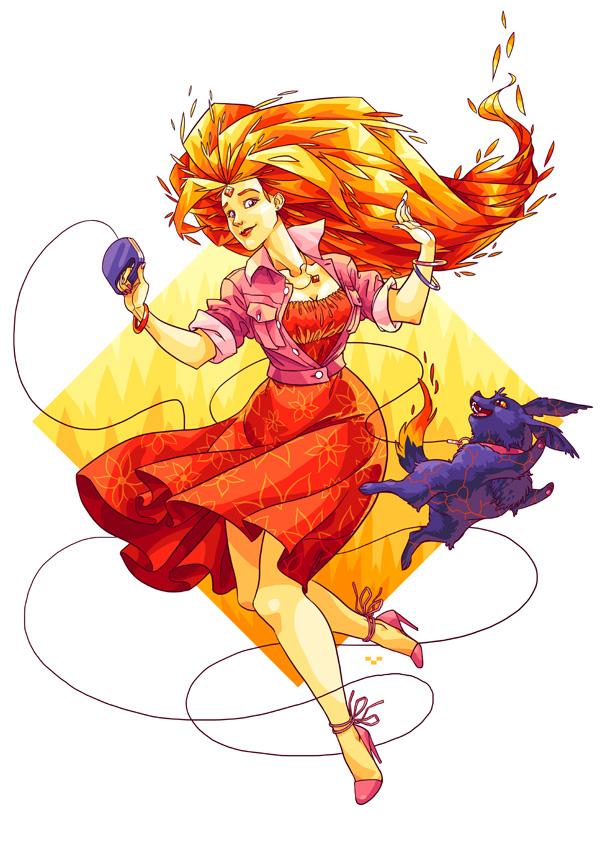 Flame Princess by Ap6y3 on DeviantArt