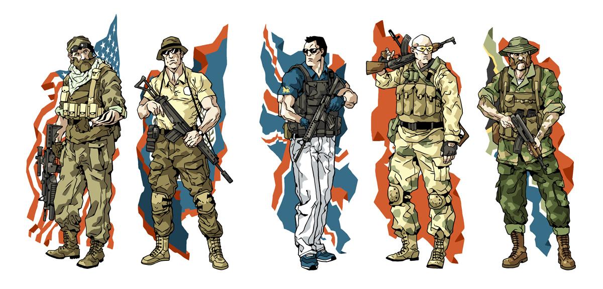 Mercenaries by Ap6y3