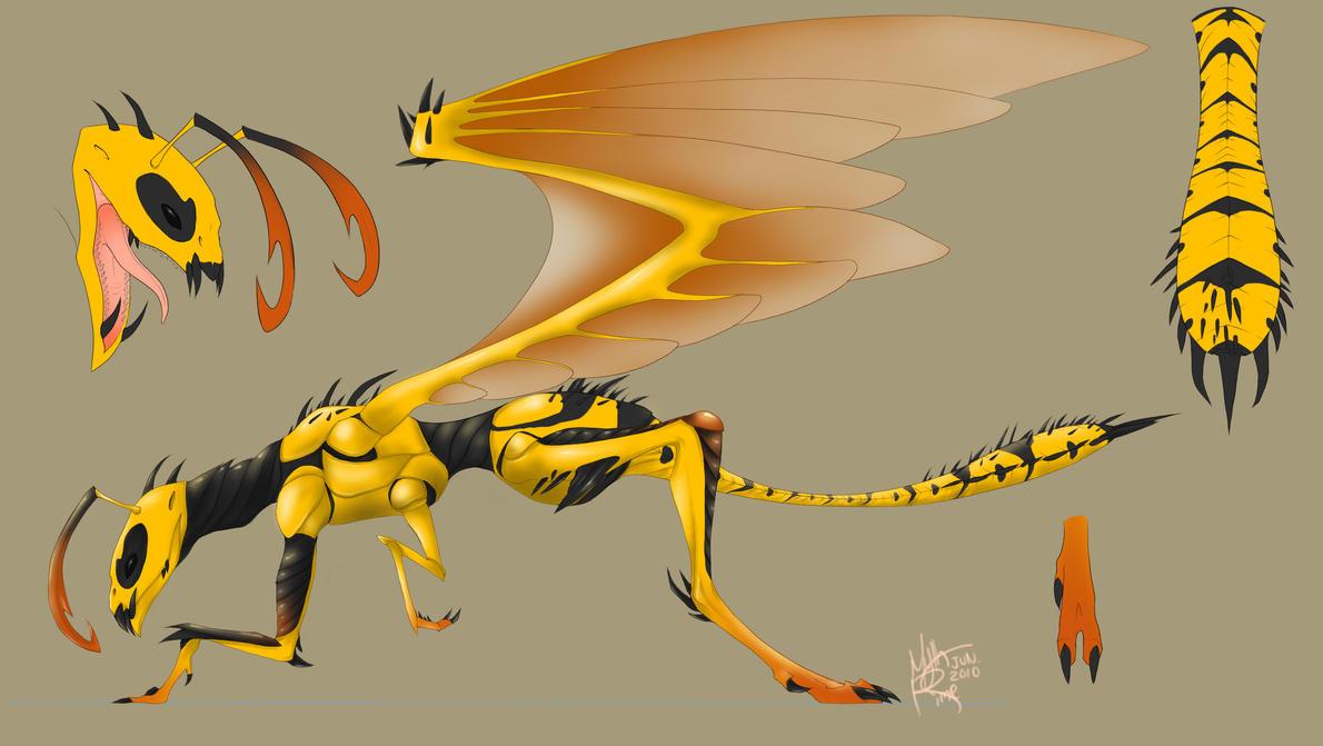 wasp dragon by Mythrim...