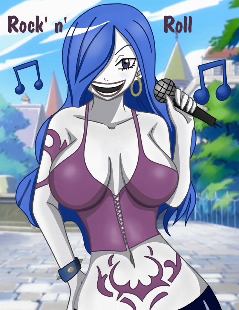 Juvia heavy metal by Shablagooo