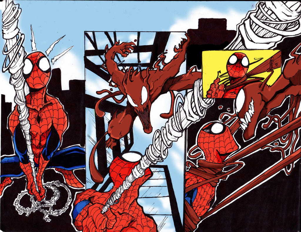 Spiderman Vs. Carnage comic page attempt #1 by ROG3RB3RNAL ...